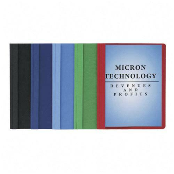 Picture of Oxford Plastic Front Folder - Red #58811