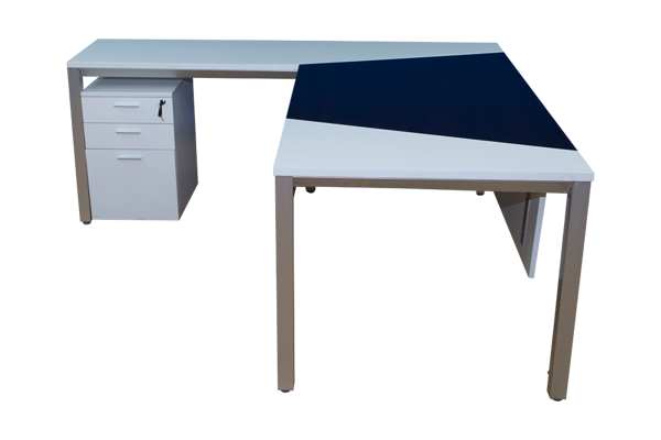 Infinity 1800 Desk + Extension & Ped. WW/BR