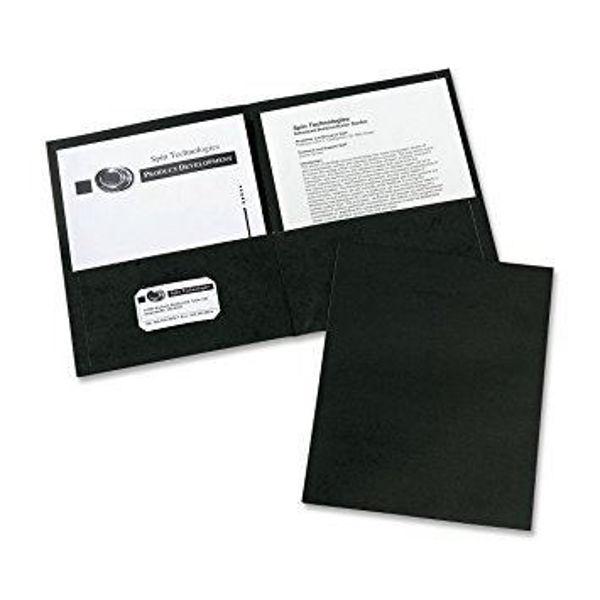 Avery Double Pocket Portfolio - Black #47988