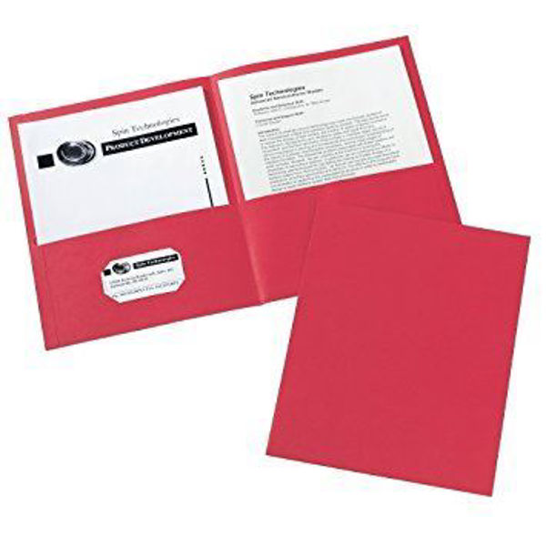 Avery Double Pocket Portfolio - Red #47989