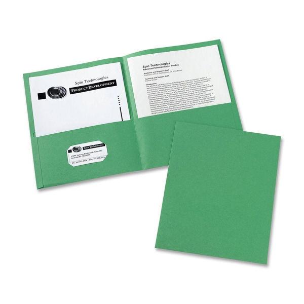 Avery Double Pocket Portfolio - Green #47987