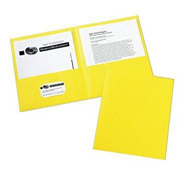 Avery Double Pocket Portfolio - Yellow #47992