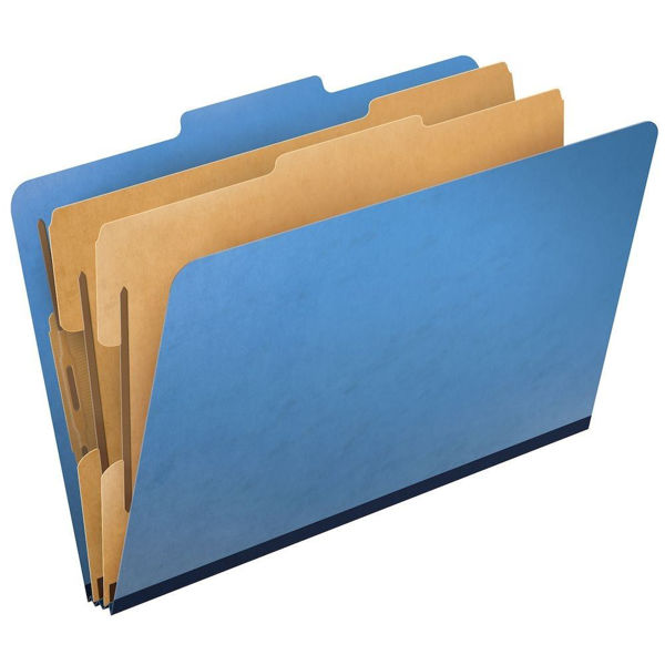 Classification Folder 6-P L/S Blue #PU61LBL