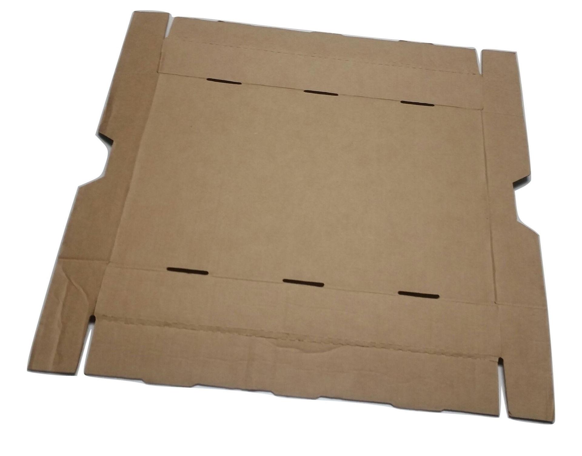 Brown F/S Storage Box w/Lid - Flat