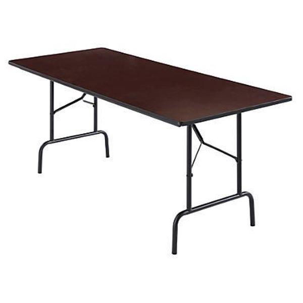 Realspace 72 x 30 Folding Table - Walnut