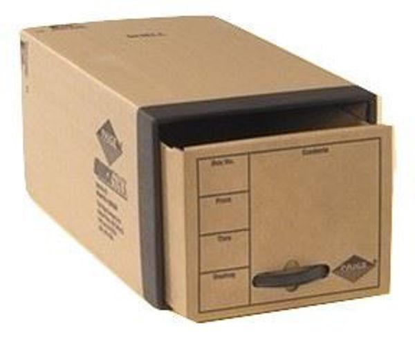 Brown F/S Steel Frame Storage Box w/Drawer #54