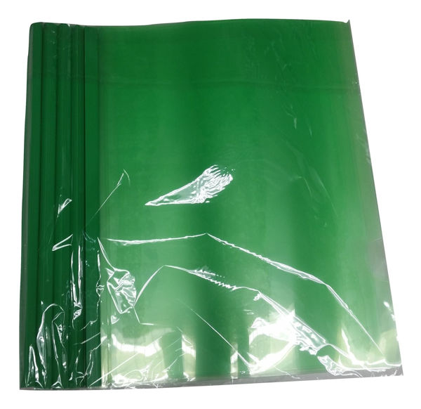 CF Plastic Report Cover w/Spine Green