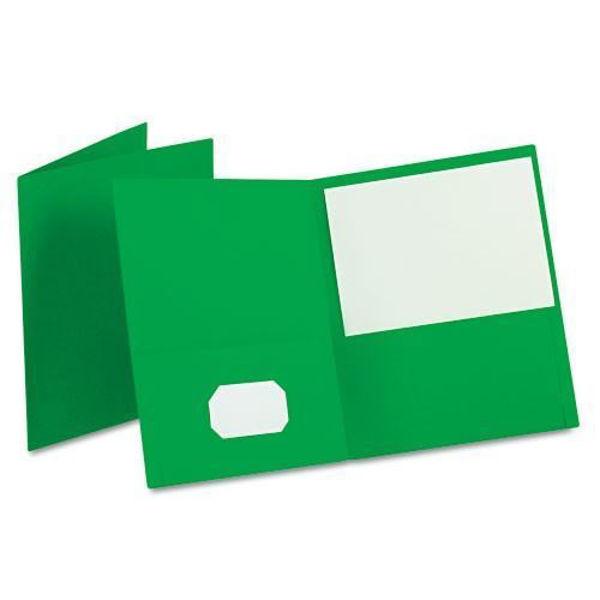 Oxford Double Pocket Portfolio - Green #50753EE