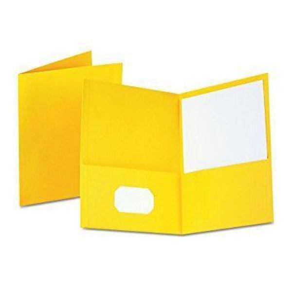 Oxford Double Pocket Portfolio - Yellow #50761