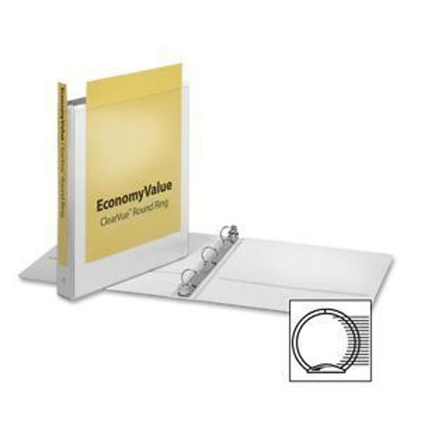 "1"" VU O-Ring Binder White #90021"