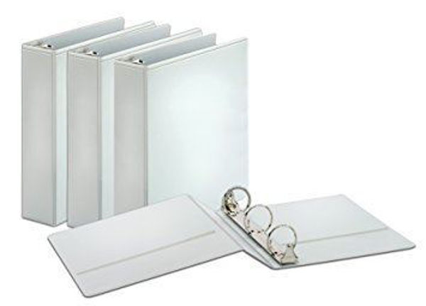 "2"" VU D-Ring Binder White #90123"