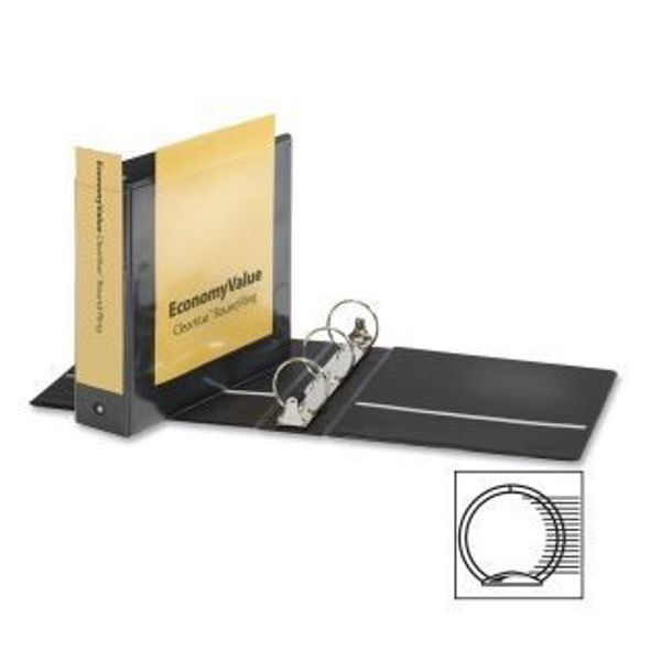 "3"" VU O-Ring Binder Black #90090"