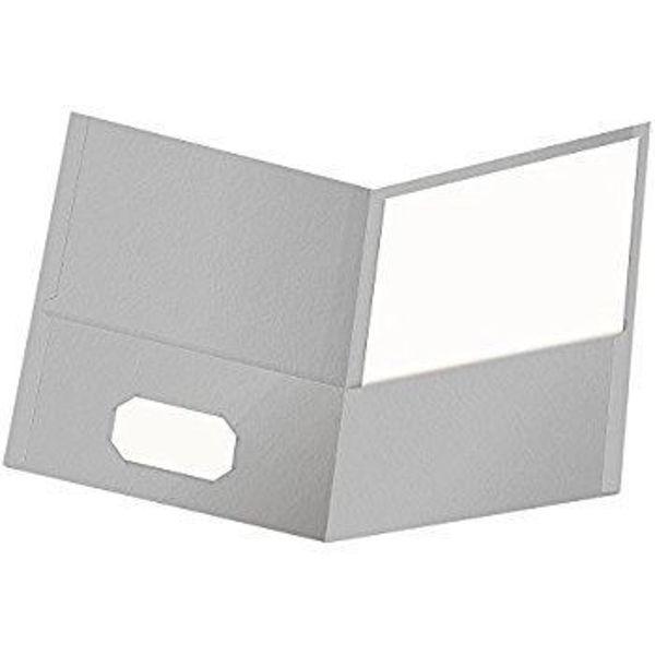 Oxford Double Pocket Portfolio - Grey