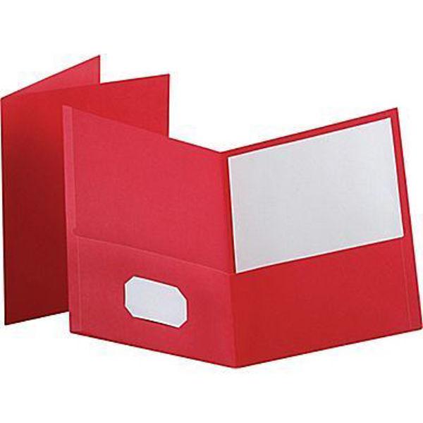 Oxford Double Pocket Portfolio - Red #50752