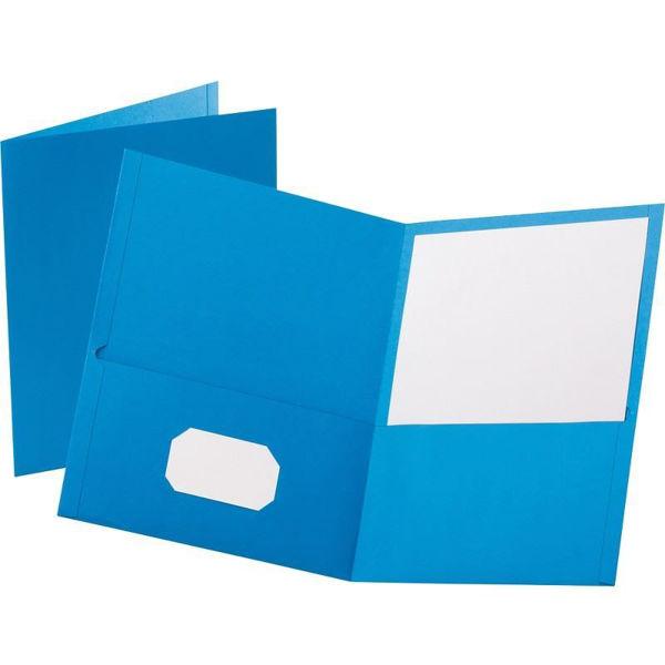 Oxford Double Pocket Portfolio - Lt. Blue #50754