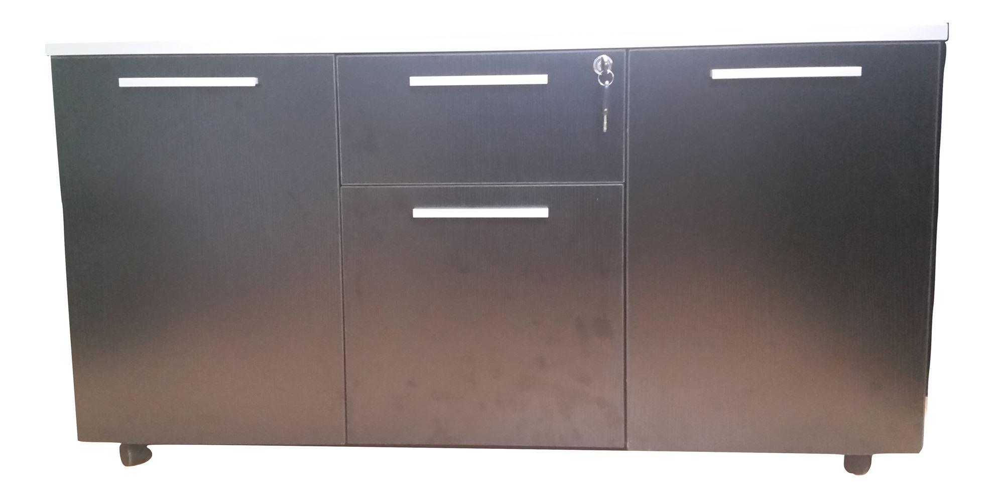 Premier Side Cabinet 1200Wx500Dx630H - Black