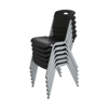 Lifetime Stackable Plastic Chair - Black