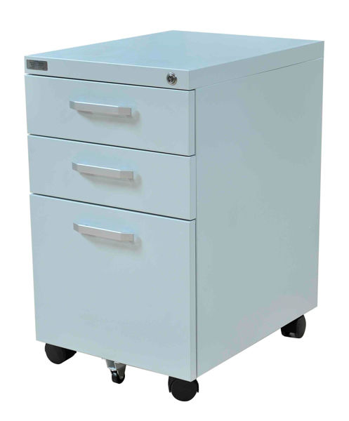 Image Metal 3-Drawer Pedestal (White)