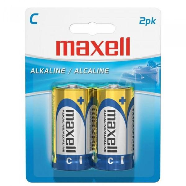Maxell Alkaline C-Size Battery 2/PK.