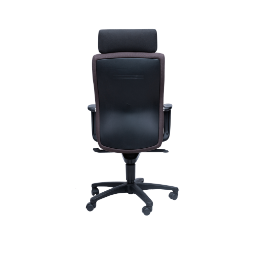 Zesti Hi Bk. Exe. Chair w/ Headrest -Brown