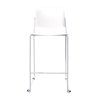 Image Bar Stool w/Chrome Frame - White