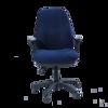 Image 3 Lever Heavy Duty Medium Back Chair w/Arm - Blue