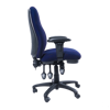 Image 3 Lever Heavy Duty Chair w/Arm - Blue