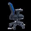 Anji High Back Mesh Chair w/Arms - Blue
