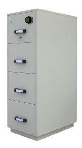 Picture of 09-011 Sentinel 4-D F/Proof Cabinet w/Combo Lock GY