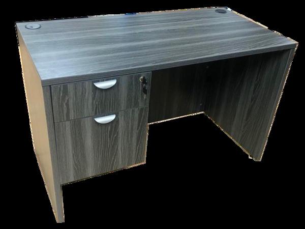HiTop 48 x 24 Desk w/Pedestal - Grey