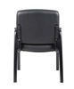 Boss Side Leather Plus Chair - Black