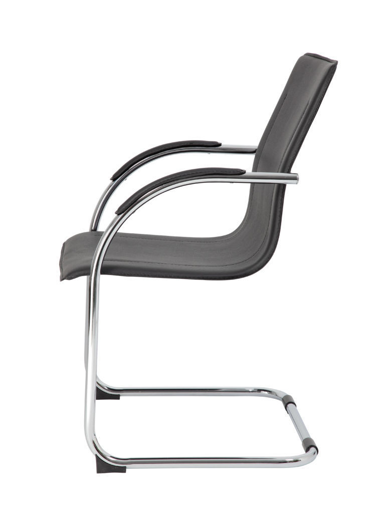 Image S-Bend Chrome & Vinyl Side Chair - Bk