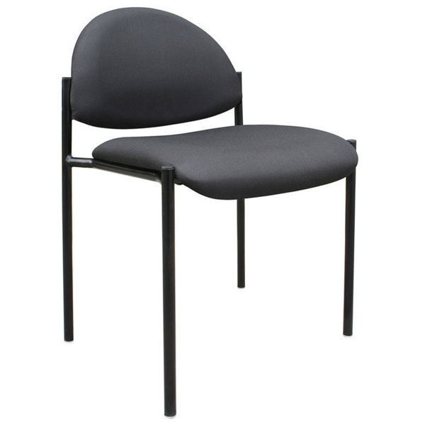 Boss Stackable Side Chair w/o Arms - Black
