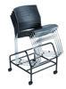Boss Stack Chair w/Chrome Frame - Black