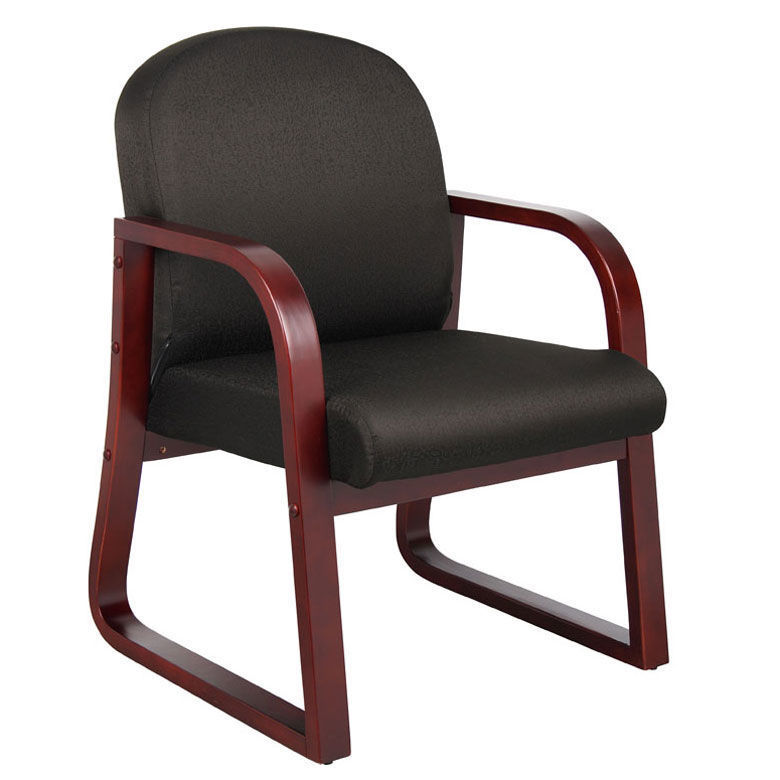 Boss Reception Chair - Mah. Col. Arms -Bk
