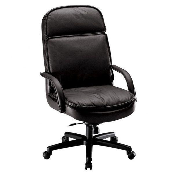 Zenon High Back Leather Exec.Chair Black