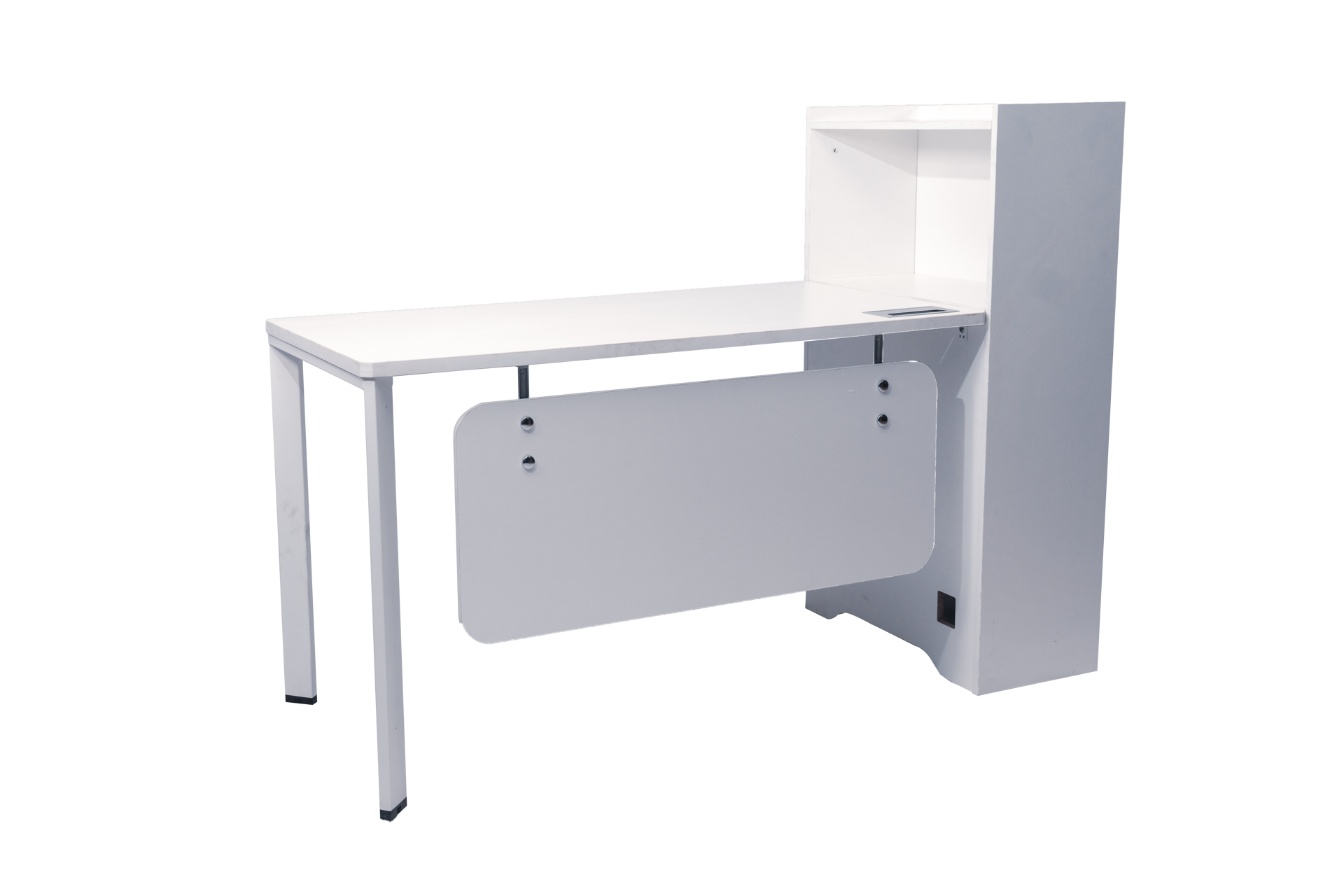 Torch 1500x600 Desk W/Cupboard - White