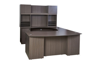 Picture of N6-006DW  Boss 2-Drawer Pedestal - Driftwood