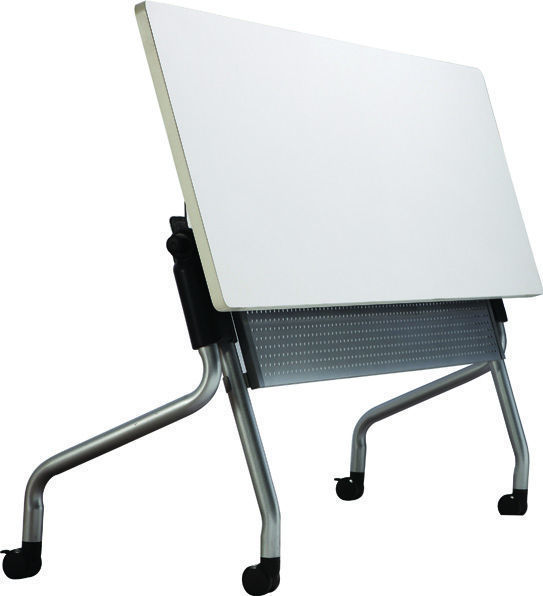 Image 1600 x 600 Folding Table w/Modesty Panel - White
