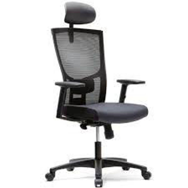 Picture of CH-2800AHZ ITIS 2 High Back Exec. Mesh Chair w/Headrest - Black (651A)