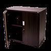 Torch 2-Shelf Cupboard w/Doors - BW