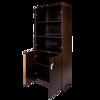 Torch 5-S Cabinet w/Glass & Solid Doors - Black Walnut
