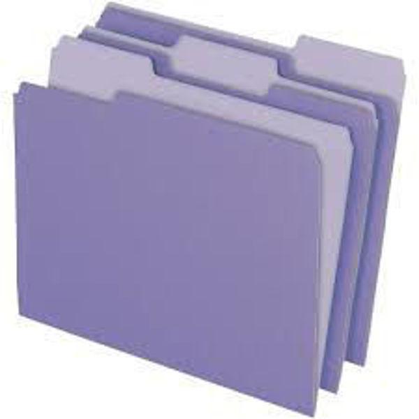 Picture of 37-019A Pendaflex L/S File Folder - Lavender #15213