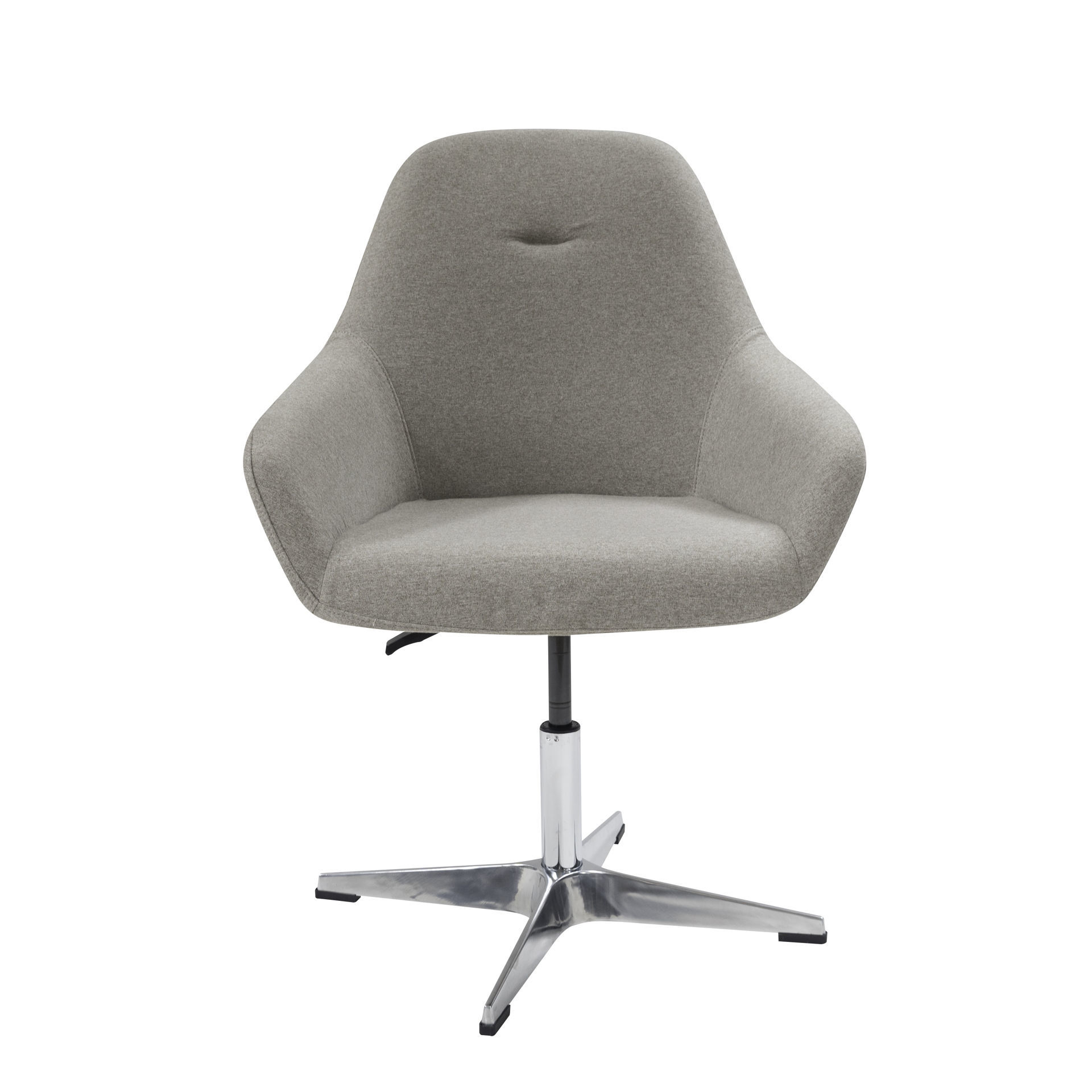 Picture of AA-542GY Image Bucket Fabric Chair on Pedestal Base - Grey