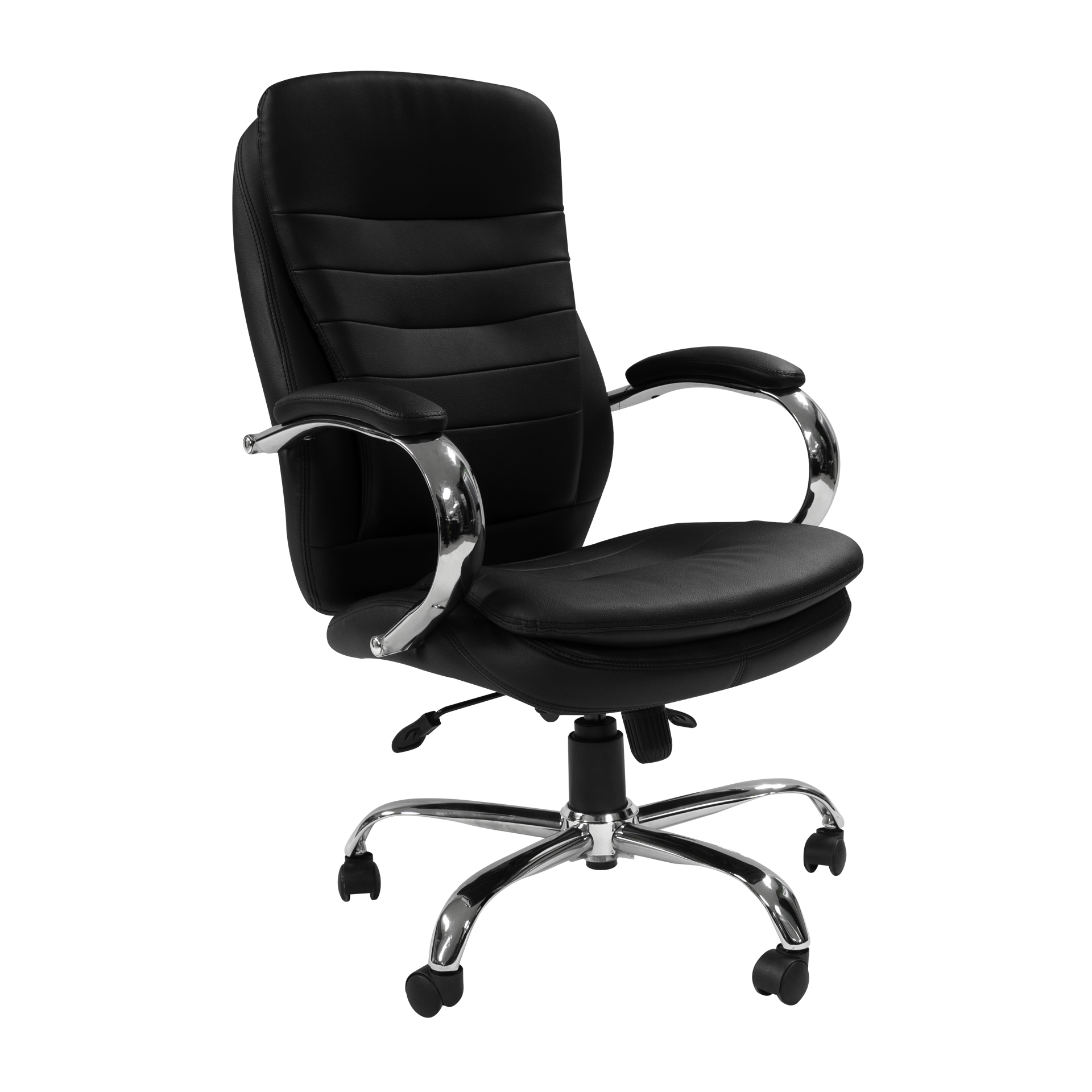 Picture of AA-5330BK Image Double Plush High Back Exec. Vinyl Chair - Black