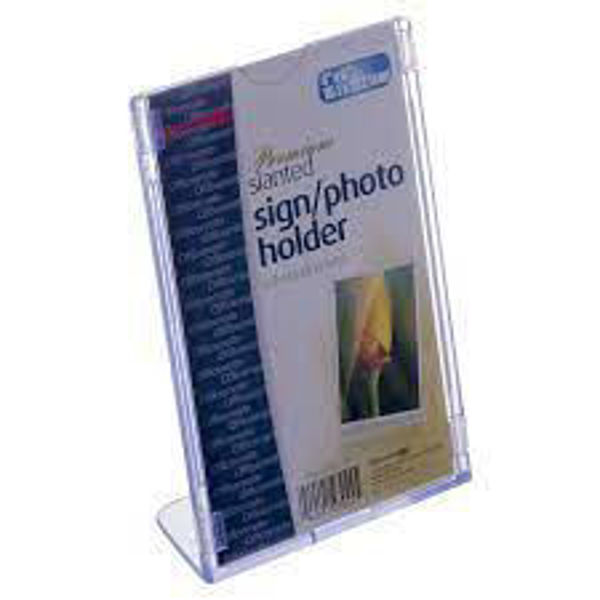 Picture of 08-020 Slanted 4x6 Sign Holder Clear - #OIC23024