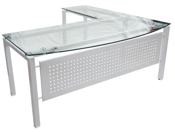 Picture of EV-0018C Vision Plus 1800 Executive Glass Desk w/Return - Clear