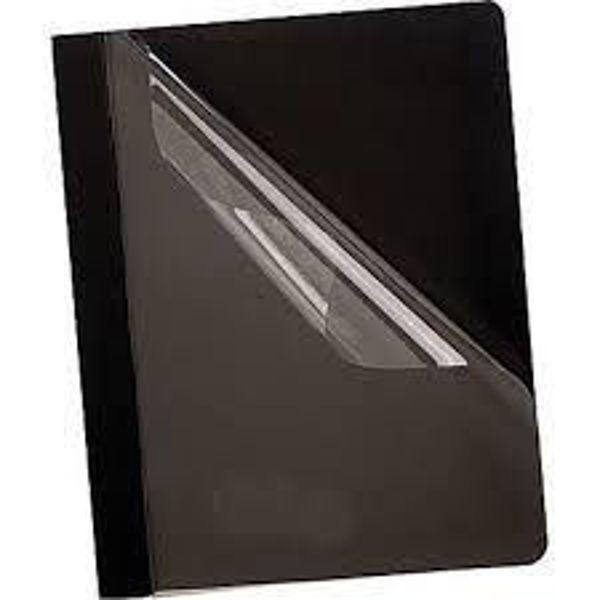 Picture of 40-003 B/Source Plastic Front Folder - Black #78520