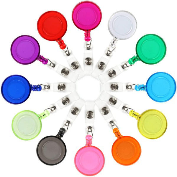 Retractable Reel w/Clip for ID Card Holder