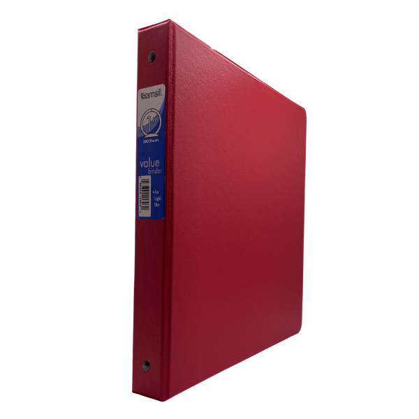 """1"""" O-Ring Binder Red #SAM11303"""